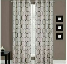 Portinari 84-Inch Grommet Top Window Curtain Panel in Charcoal