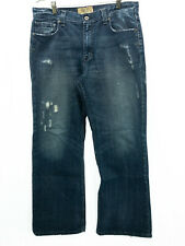 BKE Buckle Jeans Mens 36x32 Tyler Boot Distressed Blue Jeans medium wash denim