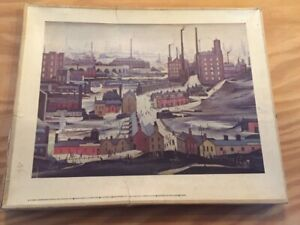 Vintage wooden jigsaw puzzle,Lowry
