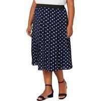 Charter Club Womens Pleated Polka Dot Office Midi Skirt Plus BHFO 6913