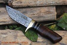 "BMK-100 Hyena Knife 8.5″ Long 4″Blade "" 7oz Hunting Fixed Blade Damascus Knife"