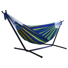 Portable Outdoor Canvas Hammock Stand Camping Sleeping Swing Hanging Bed #JT1