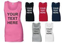 Personalised Ladies Vest Tank Top T-shirt Hen Party T Shirt Bride Custom Printed