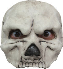 WHITE SKULL HALF FACE SCARY LATEX HORROR HALLOWEEN MASK