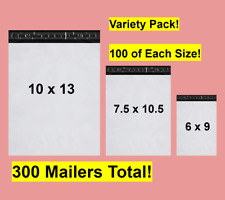 Shipping Kit Poly Mailer Shipping Envelope Bag Variety Pack of 300 Mailers!