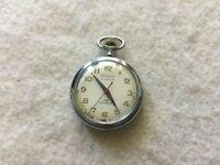 Banner 17 Jewels Incabloc Vintage Mechanical Wind Up Pocket Watch - Small