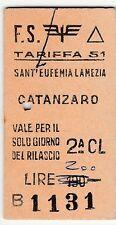EDMONSON - Catanzaro - Sant'Eufemia Lamezia -  Lire 200 - Tariffa 51 -1964