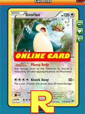 Snorlax ( Plump Body FOIL ) for Pokemon TCG Online ( digital ptcgo in Game Card)