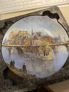 """Limoges Collector Plate """"La Ponte Du Vert Galant Et Le Pont Neuf"""" By Louis Dali"""