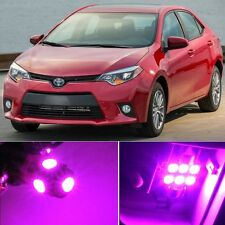 8 x Premium Hot Pink LED Lights Interior Package Kit for Toyota Corolla