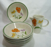 Brendan Arklow Ireland Erin Stone LOVERLY 7 Coupe Cereal Bowls Creamer Jug