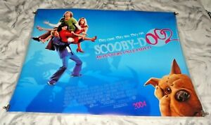 Scooby-Doo 2 Monsters Unleashed Orig UK Quad Movie Cinema Poster 2004 Blue Vers