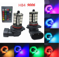 Multi-Color HB4/9006 27-SMD RGB LED Bulbs for For Fog Daytime Running DRL Lights