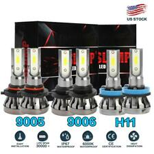 Combo 9005 + H11 + 9006 MINI LED Headlight Kit HI-Low Fog Bulbs 4500W 675000LM