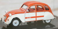 Vitesse 1/43 Scale - 23364 1976 Citroen 2CV SPOT Orange White Diecast Model Car