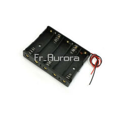 Plastic Battery Case Storage Box Holder with Wire Leads for 5 X AA 7.5V 5AA
