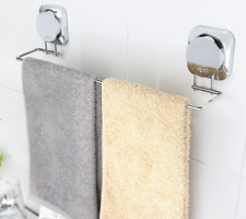 Modern Punch Free Stinaless Steel 304 Chrome Bathroom Towel Rack Single Holder