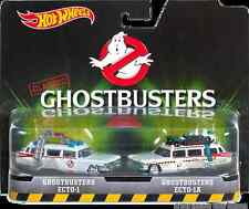 Hot Wheels 2016 HW Classic Ghostbusters Ecto-1 & Ecto-1A Real Riders 2 Pack 1:64