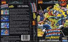 Captain America Sega Mega Drive PAL remplacement Box Art Case Insert Cover SCAN