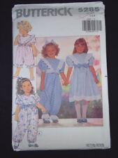 Butterick Pattern 5285 Toddler's dress jumpsuit & headband Size 1-3