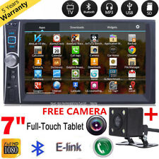 """7"""" LCD Double 2 Din Touch Screen Car MP5 Player Radio Stereo Bluetooth Camera i"""