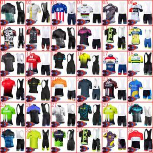 2021 New Team Bike jersey Cycling tops bib shorts set Summer Men bicycle uniform