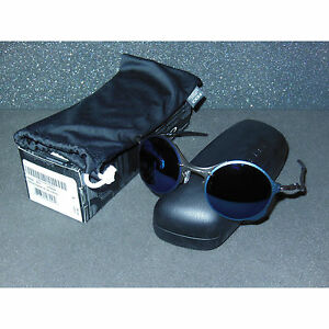 New Oakley Tailend Sunglasses Pewter/Ice Iridium Round Retro Wires Tail End Blue
