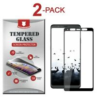 2 Tempered Glass Screen Protector Full Case Friendly For Samsung Galaxy A8 Star