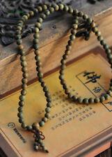 108 Fragrant 8mm Green Sandalwood Buddhist Prayer Bead Mala Necklace/Bracelet