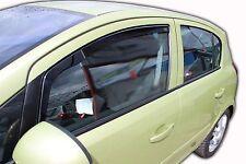 VAUXHALL Corsa D 5 PORTE Deflettori vento anteriore 2pc Set interno Fit COLORATA HEKO