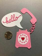 3 Telephone Sets Premade PAPER Die Cuts / Scrapbook & Card Making