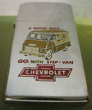 VINTAGE RARE 1956 CHEVROLET VAN slim ZIPPO LIGHTER  NICE Advertising
