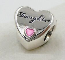 SILVER DAUGHTER CHARM BEAD WITH PINK STONE - GENUINE BARGAIN, LIMITED QUANTITY !