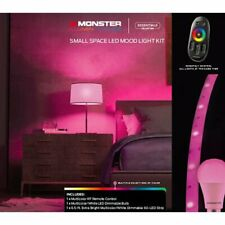 Monster Illuminessence Small Space LED Mood Lighting Kit with Touch Remote - NEW