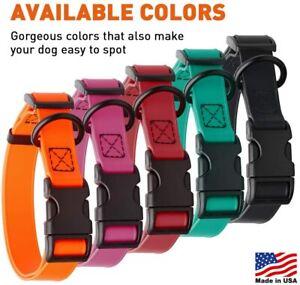 Dogline Biothane Waterproof Dog Quick Release Collar Strong Coated Nylon Webbing