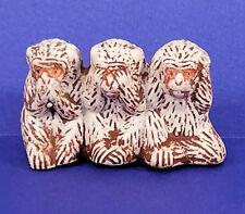 Monkey Speak No Evil See No Evil Hear No Evil Ceramic Chimp Palm Size Figure