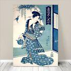 "Beautiful Japanese GEISHA Art ~ CANVAS PRINT 8x12"" Toyokuni Beauty"