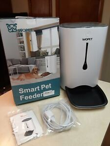 New Wopet Smart Pet Feeder 7L v36- White - iPhone & Android compatible