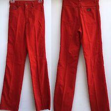 """VTG fu's High Waisted Red Velvet (velvet look) Pants 5 Pkt Jeans Style 25 1/2"""""""