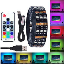 USB LED Strip RGB 5V TV Backlight 5050 LED Strip Light + USB Remote Controller