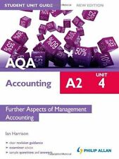 AQA A2 Accounting Student Unit Guide: Unit 4 Further Aspects of-ExLibrary