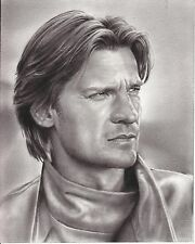 "Game of Thrones Jaime Lannister ART CHARCOAL DRAWING 8X10"" ORIGINAL"