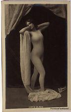 CPA  POSTCARD PHOTO FEMME NU ARTISTIQUE ACADEMIQUE 1900   Lae810