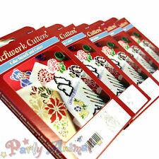 New for 2012 -Patchwork Cutters WITH Stencils!- Cup Cake Decorating Sugarcraft