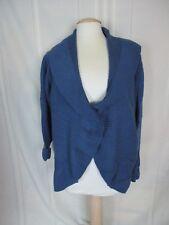women's Motto Blue wool blend sweater 3X cardigan