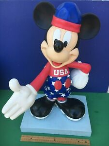 Disney MICKEY MOUSE Store Display 20 inch STATUE - Olympics -75 Inspearations