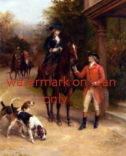 c1890~British Hunt~Horses~Woman Sidesaddle~ Hound Dog Dogs~NEW Large Note Cards