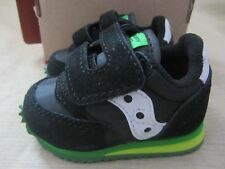 Saucony Baby Jazz Crib Shoes Newborn Boys Size 1 Black Green New In Box