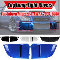 2PCS Front Bumper Fog Light Bezel Cover Grille For 04-05 Subaru Impreza STI WRX
