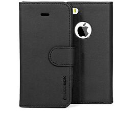 for Apple iPhone 5s 5 Case BUDDIBOX Premium Leather Card Slot Wallet Flip Cover